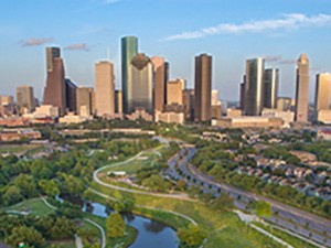 Houston Skyline during late afternoon looking east