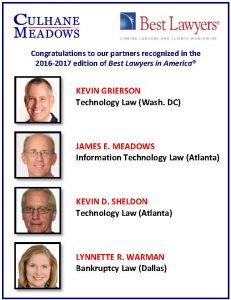 2016 Best Lawyers Announcement